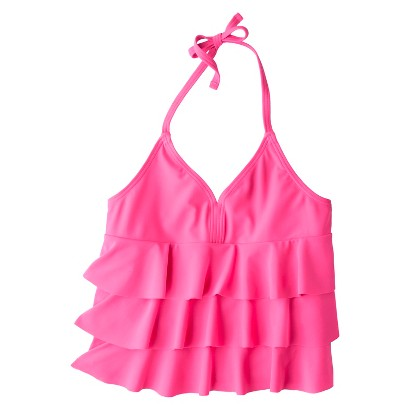 Girls' Ruffled Tankini Top