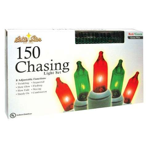150ct 8 Function Chasing Mini String Lights - Green Wire