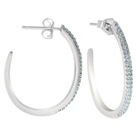 1/4 CT.T.W. Diamond Half-Hoop Sterling Silver Earrings (I3-I2)