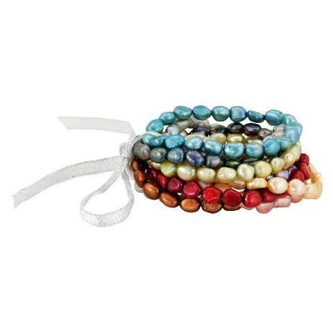 Freshwater Pearl Multi-Strand Bracelet - Multicolor
