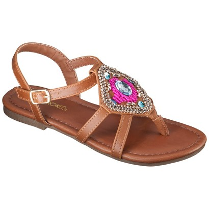 Girl's Cherokee® Frances Huarache Sandals - Tan