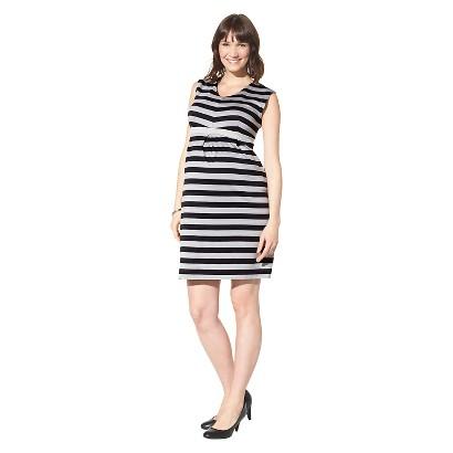 Maternity Sleeveless Dress Black/Gray