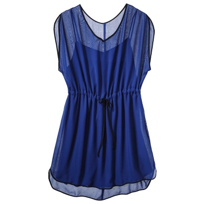 Women's Plus Size Short Sleeve Easy Waist Dress Royal Blue/Navy-Pure Energy