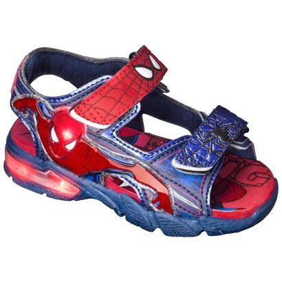 Toddler Boy's Spiderman Light Up Footbed Sandals - Blue/Red