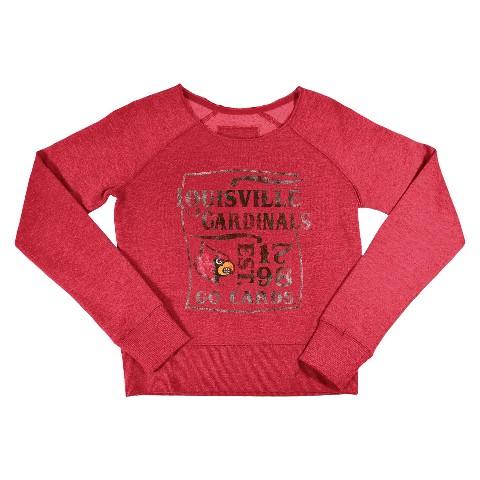 Louisville Cardinals Kid's Crew Neck Sweatshirt -Red