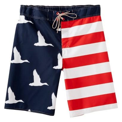 """Men's 11"""" Duck Dynasty Red Stripe Boardshort"""