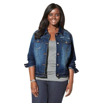 Pure Energy Women's Plus-Size Denim Jacket - Blue