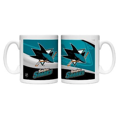 Boelter Brands NHL 2 Pack San Jose Sharks Wave Style Mug - Multicolor (15 oz)