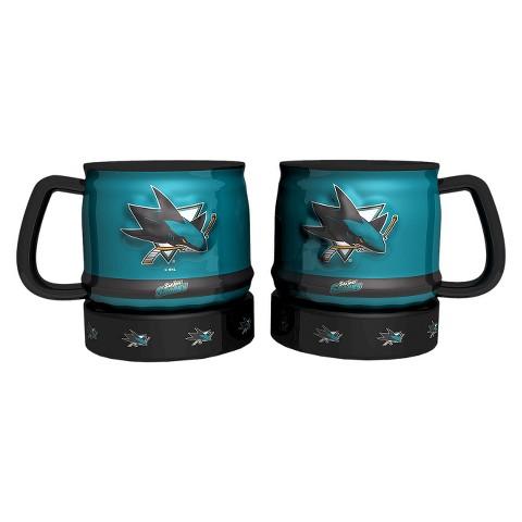 Boelter Brands NHL 2 Pack San Jose Sharks Puck Style Coffee Mug - Multicolor (16 oz)
