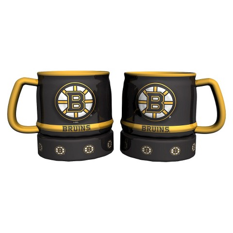 Boelter Brands NHL 2 Pack Boston Bruins Puck Style Coffee Mug - Multicolor (16 oz)