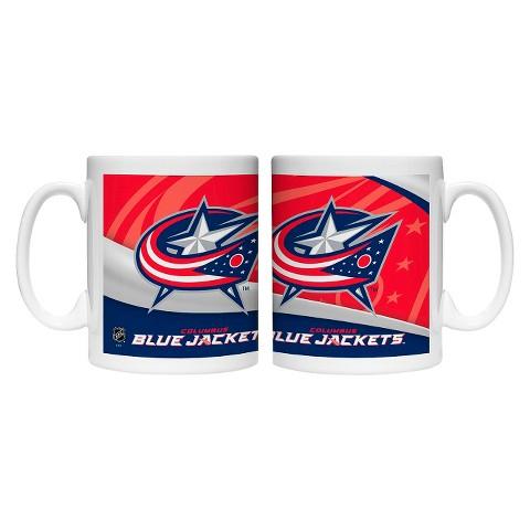 Boelter Brands NHL 2 Pack Columbus Blue Jackets Wave Style Mug - Multicolor (15 oz)