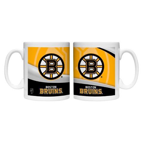 Boelter Brands NHL 2 Pack Boston Bruins Wave Style Mug - Multicolor (15 oz)
