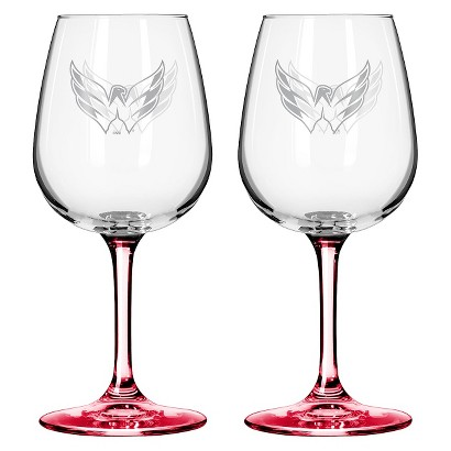Boelter Brands NHL 2 Pack Washington Capitals Wine Glass - 12 oz