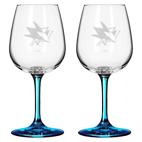 Boelter Brands NHL 2 Pack San Jose Sharks Wine Glass - 12 oz