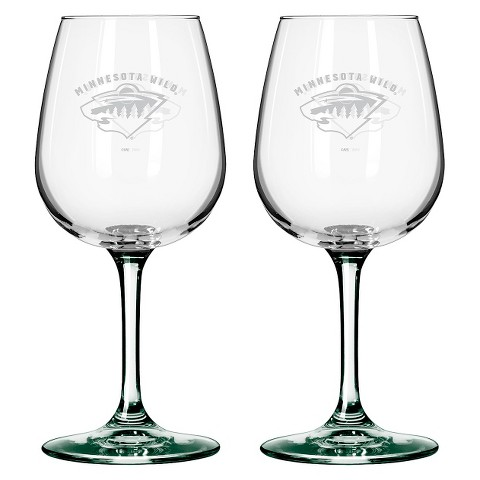 Boelter Brands NHL 2 Pack Minnesota Wild Wine Glass - 12 oz