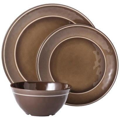 Threshold™ Round Melamine 12 Piece Dinnerware Set