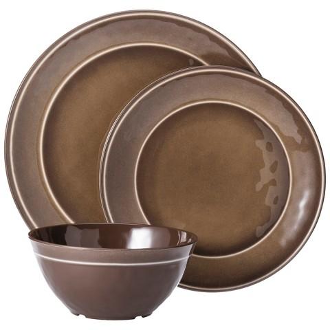 Melamine Dinnerware : Threshold™ Round Melamine 12 Piece Dinnerware Set product details ...