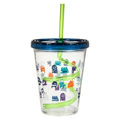 Circo® Monsters Straw Sippy Cup Set of 3 - Multicolor