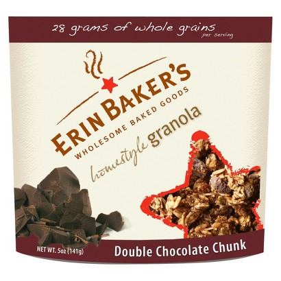 Erin Baker's Double Chocolate Chunk Homestyle Granola 5 oz