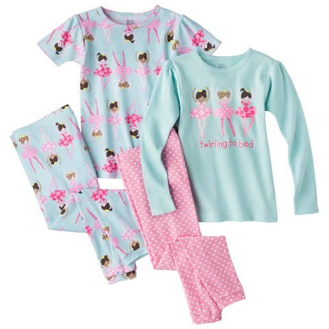 Just One You™ Made by Carter's&#174 Girls' 4-Piece Mix & Match Ballerina Pajama Set