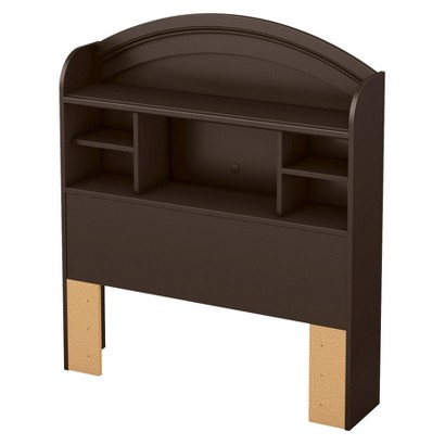 South Shore Morning Dew Bookcase Kids Headboard - Chocolate (Twin)