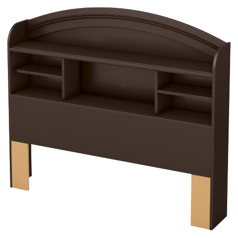 South Shore Morning Dew Bookcase Kids Headboard - Chocolate (Full)