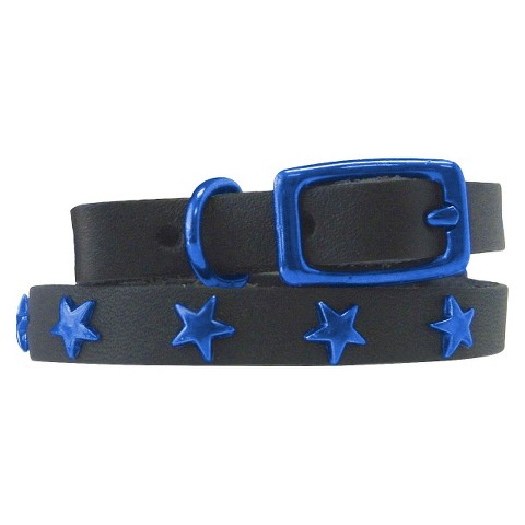 Platinum Pets Genuine Leather Cat & Puppy Collar with Stars