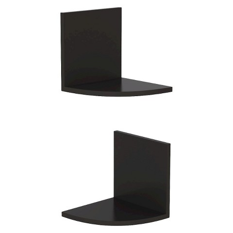 Threshold Two Tier Corner Shelf - Black