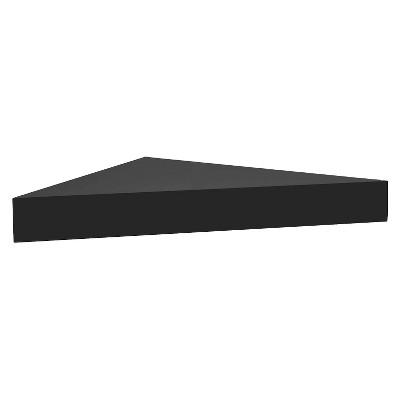 Ecom Wall Shelf Black 1 Shelf