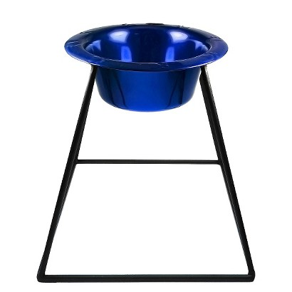 Platinum Pets Pyramid Single Feeder with One Stainless Steel Wide Rimmed Bowl