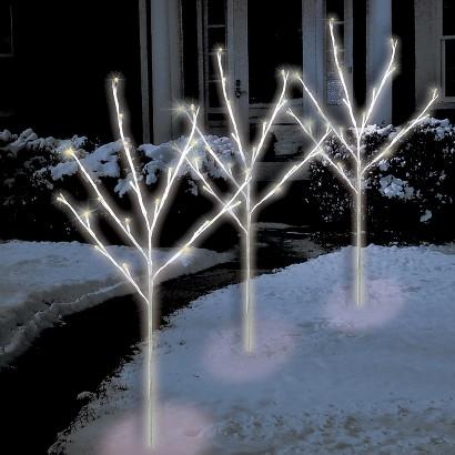 Warm White LED Twig Tree Path Lights (3)