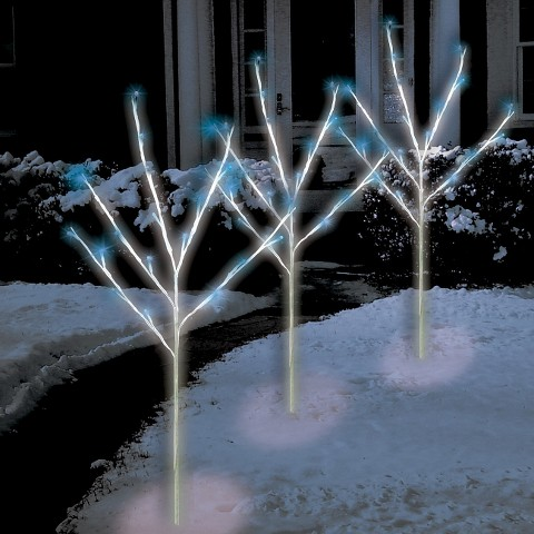 Blue LED Twig Tree Path Lights (3)