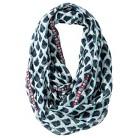Merona® Leopard Print Infinity Scarf with Trim - Blue