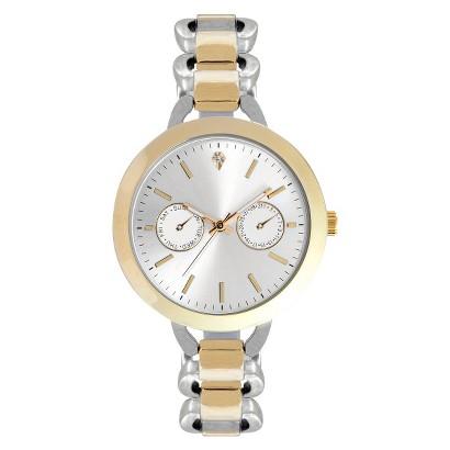 Women's Merona® Core Metals Wristwatch - Silver/Gold