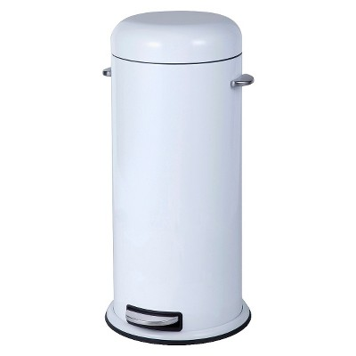 30L Metal Retro Step Trash Can - Threshold™