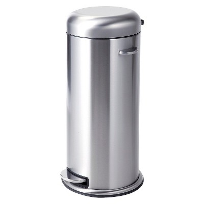 30 Liter Metal Step Trash Can - Stainless Steel - Threshold™