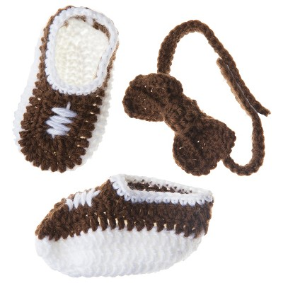 So'dorable Infant Boys' Bow Tie and Bootie Set - Brown/White