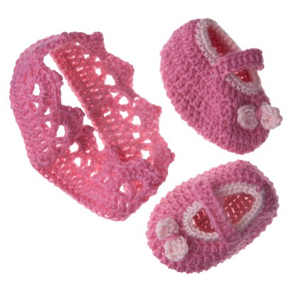 So'dorable Infant Girls' Crown Headband and Bootie Set - Pink