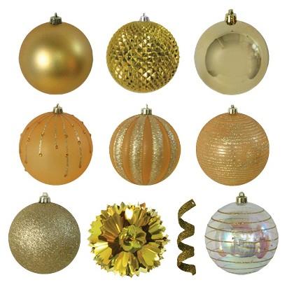 40-Piece Ornament Set - Gold
