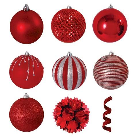40-Piece Ornament Set - Red