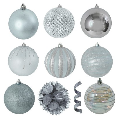 40-Piece Ornament Set - Silver