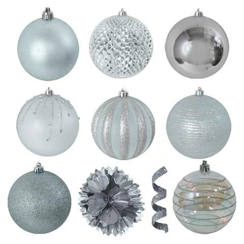 40-Piece Ornament Set - Silver