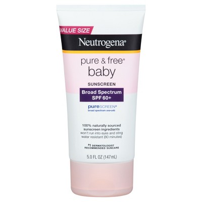Neutrogena® Pure & Free® Baby Sunscreen Lotion Broad Spectrum SPF 60 - 5 Fl Oz