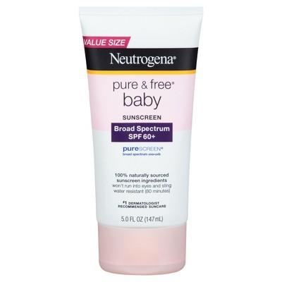 Neutrogena® Pure & Free® Baby Sunscreen Lotion Broad Spectrum SPF 60 - 5 Fl Oz