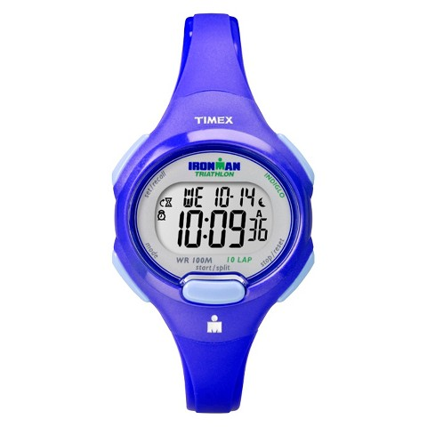 Timex Women's 10 Lap Blue Strap and Case Watch - Blue