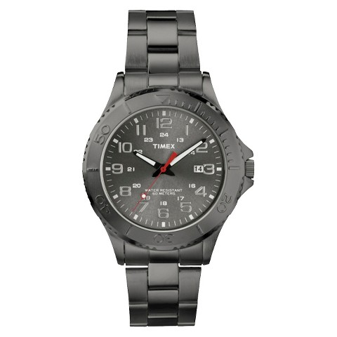 Timex Men's Stainless Steel Bracelet and Case Watch with Grey Dial - Grey