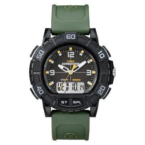Timex Men's Expedition Watch with Strap - Black/Green