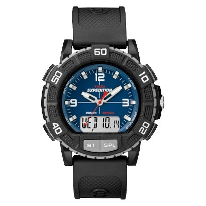 Timex Men's Expedition Watch with Strap with Blue Dial - Black