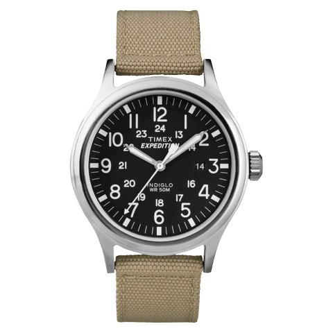 Timex Men's Expedition Scout Watch Nylon Strap and Black Dial - Tan - T499629J