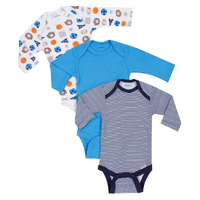 Gerber® Onesies® Newborn Boys' 3 Pack Sports Bodysuit - Blue